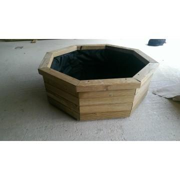 Bassin pin traité octogonal 700 sur plats, H350