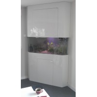 Aquarium et meuble d'angle 350 litres