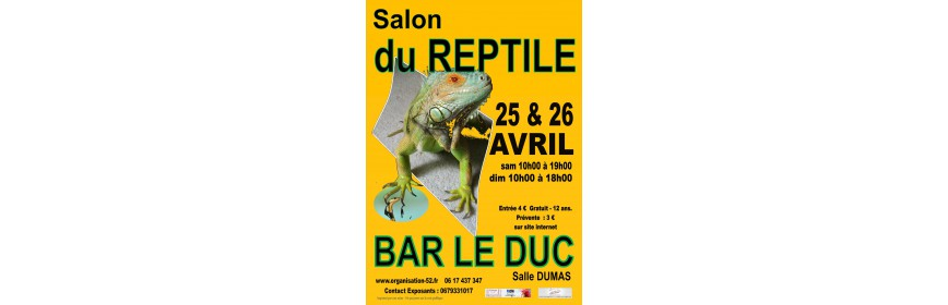 BAR-LE-DUC (55) Bourse terrariophilie REPORTEE